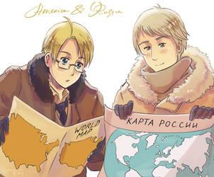USA et Russia Maps by Oprisnyashka
