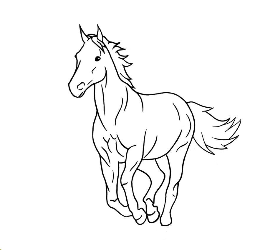 Horses running drawing - photo#22