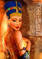 queen nefertiti by mahmoudz
