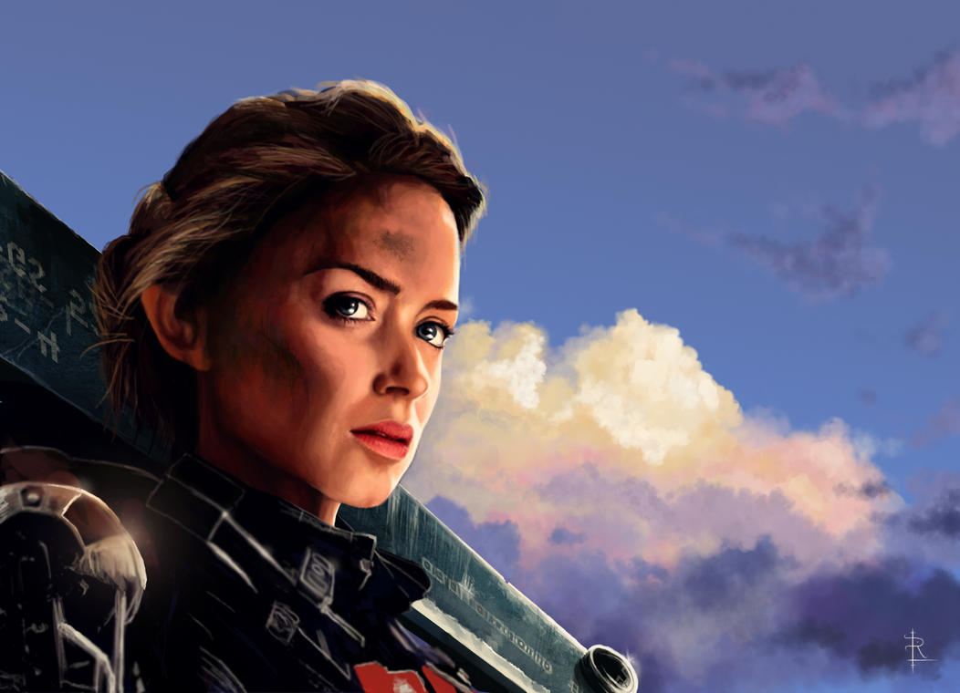 Edge of Tomorrow Fan Art: Emily Blunt by rlandvatter