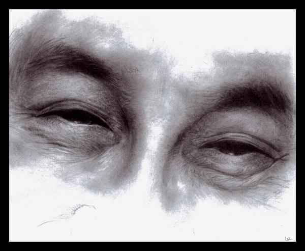 Charcoal Eye Drawing - Hot Girls Wallpaper