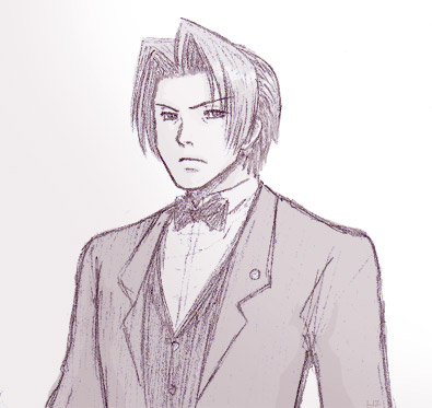 Defense Attorney Miles Edgeworth, in a Very Stylish Bowtie
