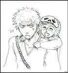 Ichigo and Nell lineart