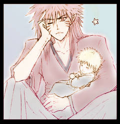 Kyuubi and Baby by Lizeth