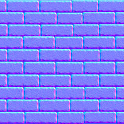 Seamless Brick Rock Wall Normal Map
