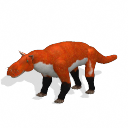 All Yesterdays Gorgonopsid (red fox-colored)