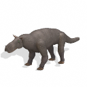 All Yesterdays Gorgonopsid (gray wolf-colored)