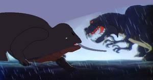 Rite of Holocene: Elephant Vs Hippopotamus