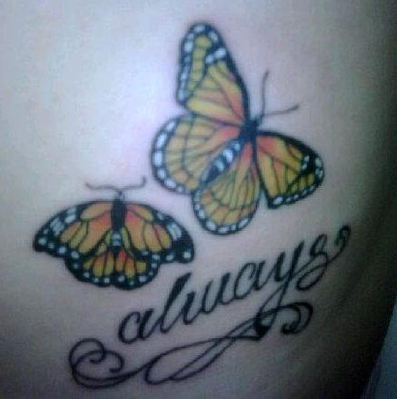 Butterfly memorial tattoo by glorifieddoorbell on deviantart for Butterfly memorial tattoos