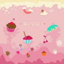 Cupcake - Wallpaper