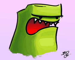 The Angry Green Dude...