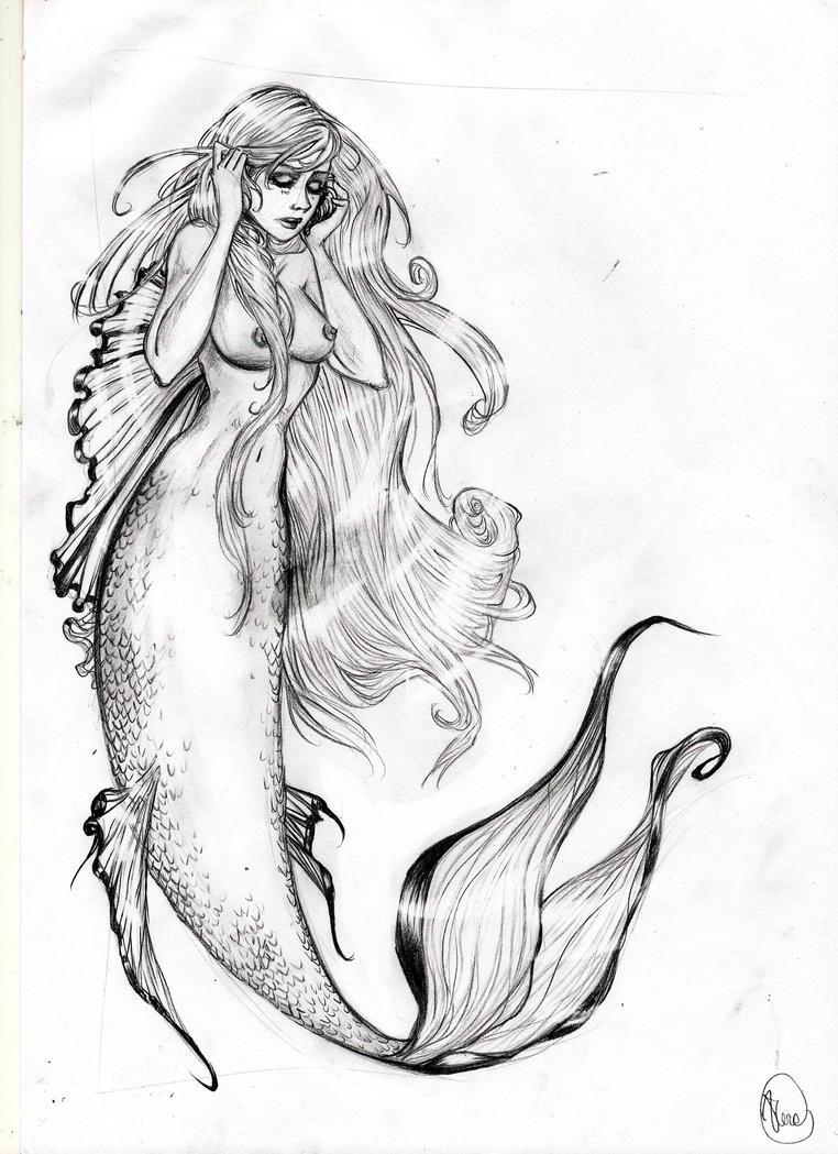 Mermaid sketch by VeraArt Mermaid Sketch