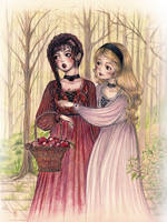 Snow White and Rose Red by VeraArt