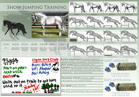 Show Jumping Training Template Example