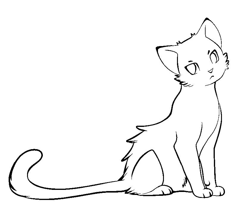 Line Art Kitten : Paint friendly cat lines by nightshrowd on deviantart