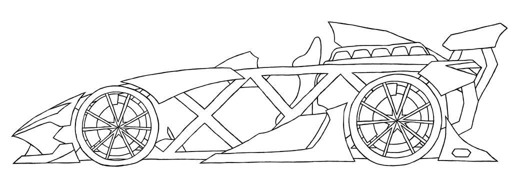 ariel atom v10 line art by genises on deviantart