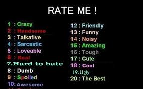 Rate Me by BCtheBoss