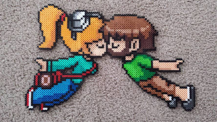 my gf and I in beads