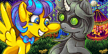 Pixel Portrait - Laffy Taffy and Discordian by tacoma29