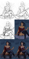 Asian Female Swordsman