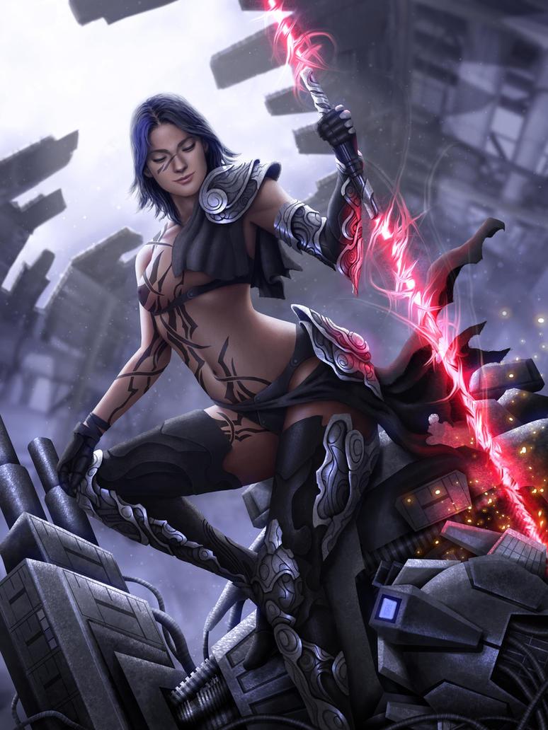 Lazer Sword Sci-Fi Porn Star by tekkoontan