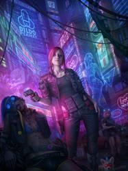 Cyberpunk 2077 Fanart by tekkoontan