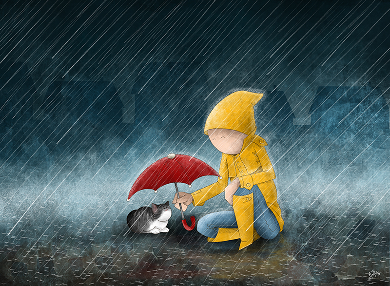 Rain can wait - National Cat Day 2013 by ThePaperCats