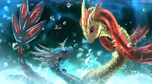 Aquatic alliance by TellerySpyro