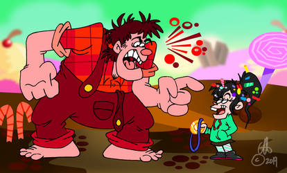 Ralph Eats Vanellope And The Movie's Over by Chopfe