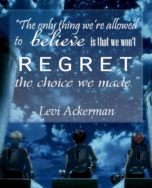 Levi Ackerman Quote Poster Thingy By Trynxx On Deviantart