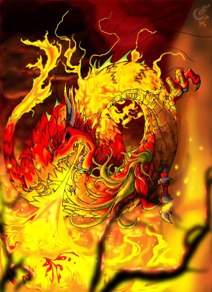 Dragon of Napalm by UltraRaccoon