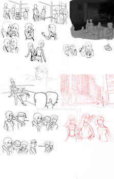 Unfinished 'Between the Lines' pages