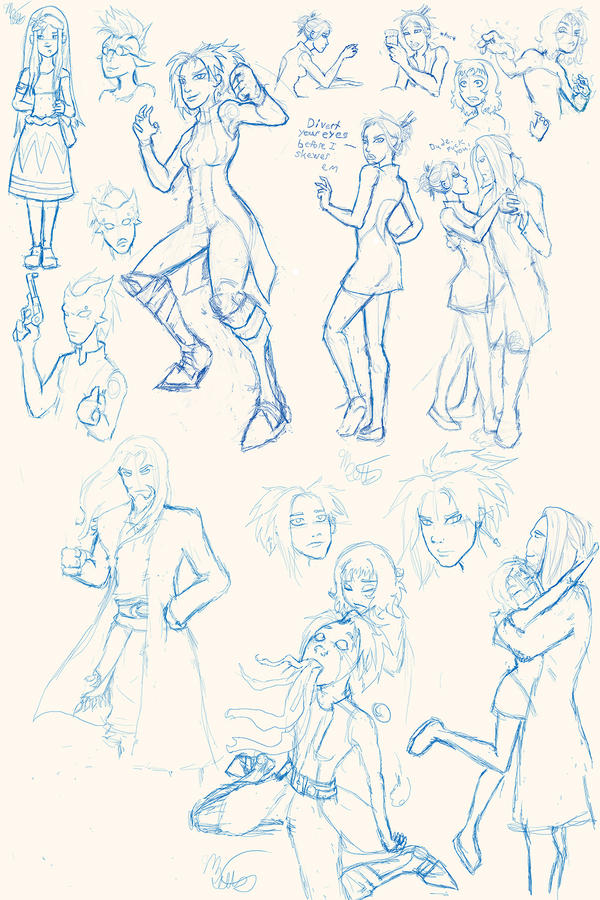 Ousia Verge sketches galore! by Mekari on DeviantArt