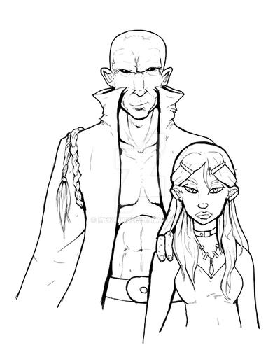 Tomini and young Omni - sketch