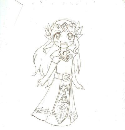 how to draw toon zelda