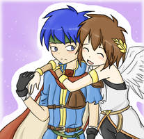 Ike x Pit colored by SparxPunx