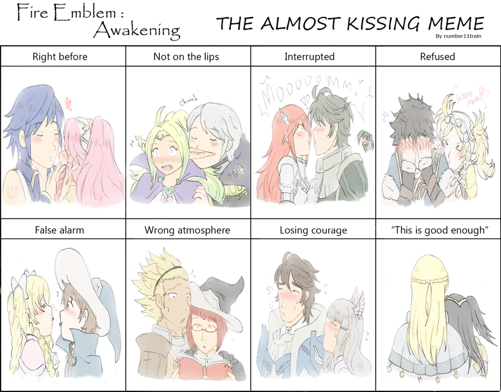 Almost Kissing meme by SparxPunx