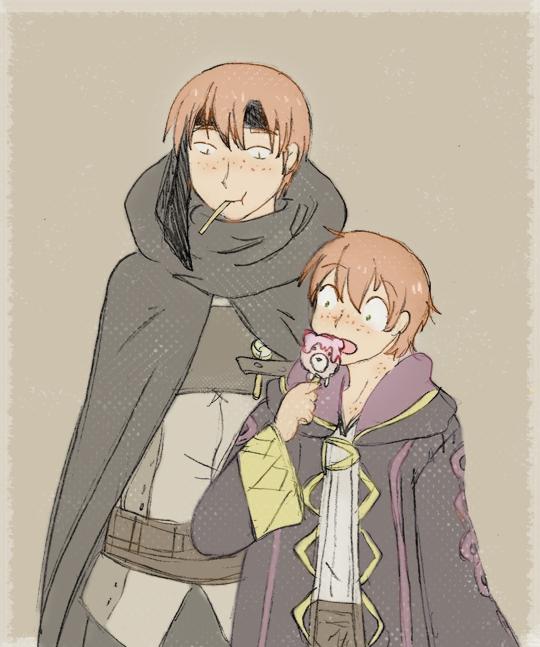 Gaius and Morgan by SparxPunx