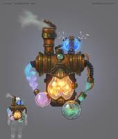 Alchemist's lab by Grey-Seagull
