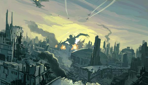 city destruction by fab68