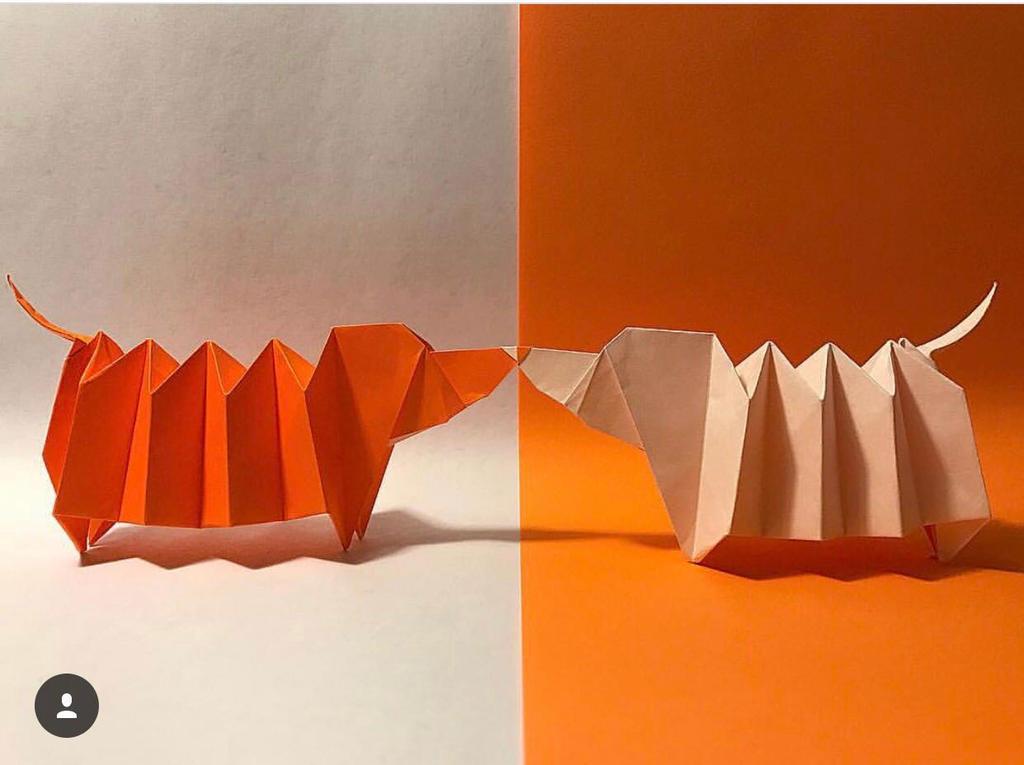 2 Origami Dachshund By Blublohw On Deviantart