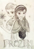 Frozen   Elsa and Anna by flyin-stars