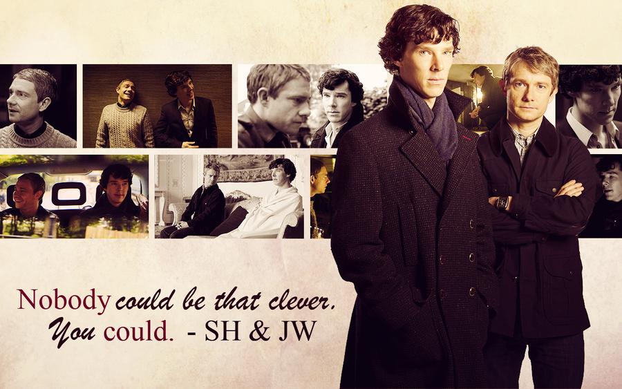 BBC Sherlock Wallpaper - John/Sherlock by Sidhrat