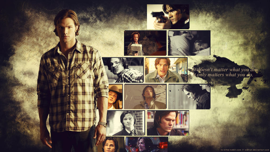 Supernatural Wallpaper - Sam Winchester by SidhratSupernatural Wallpaper Sam