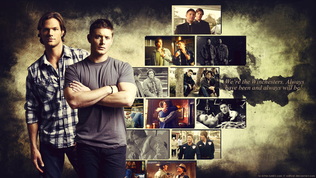 Supernatural Wallpaper - Sam and Dean by Sidhrat on DeviantArt