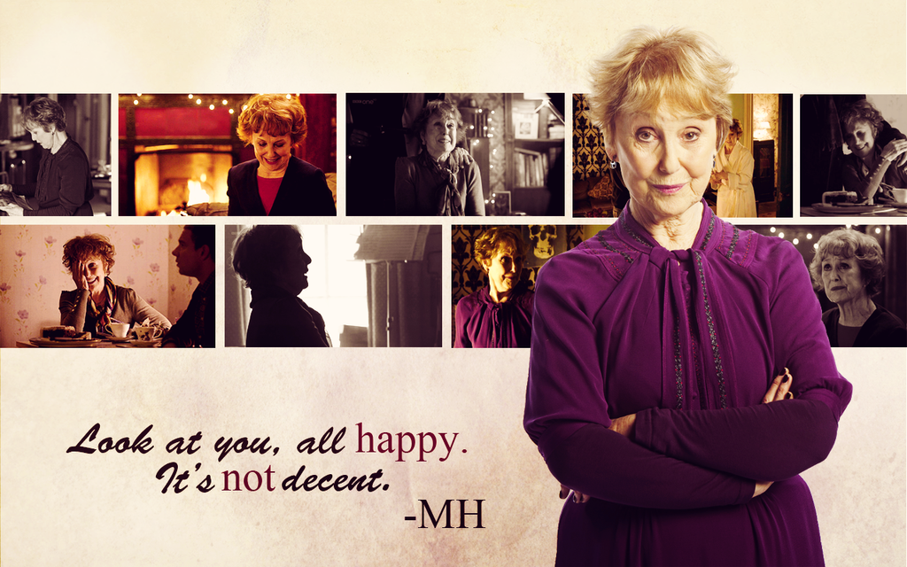 BBC Sherlock Wallparer Mrs Hudson by Sidhrat