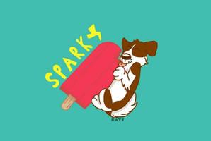 Sparky Loves Popsicles