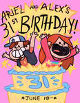 Happy 31st Birthday Alex and Ariel!