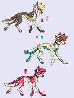 20 points colorful canine adoptables   open by NarcoraViolet