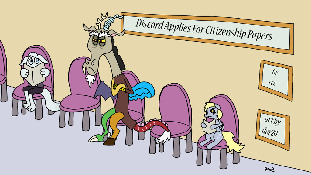 Discord Applies For Citizenship Papers cover by DOR20